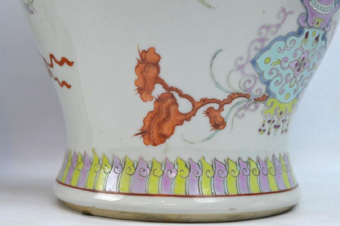 Pr Late Qing Chinese Famille Rose Porcelain Urns - 5