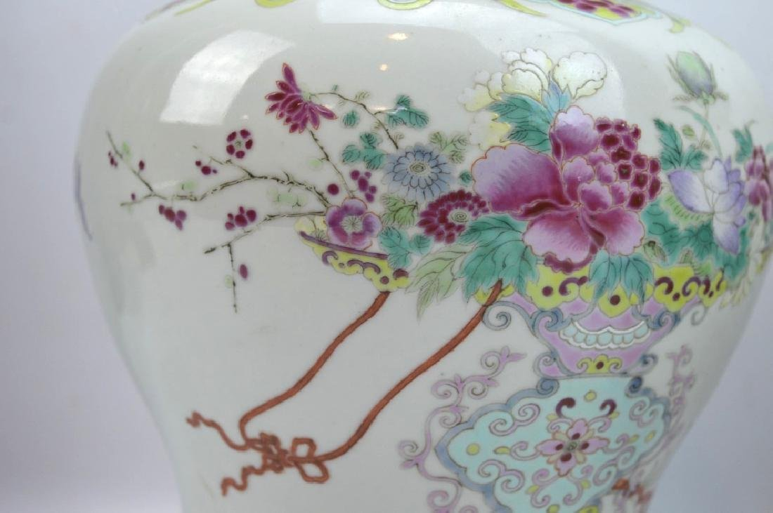 Pr Late Qing Chinese Famille Rose Porcelain Urns - 6