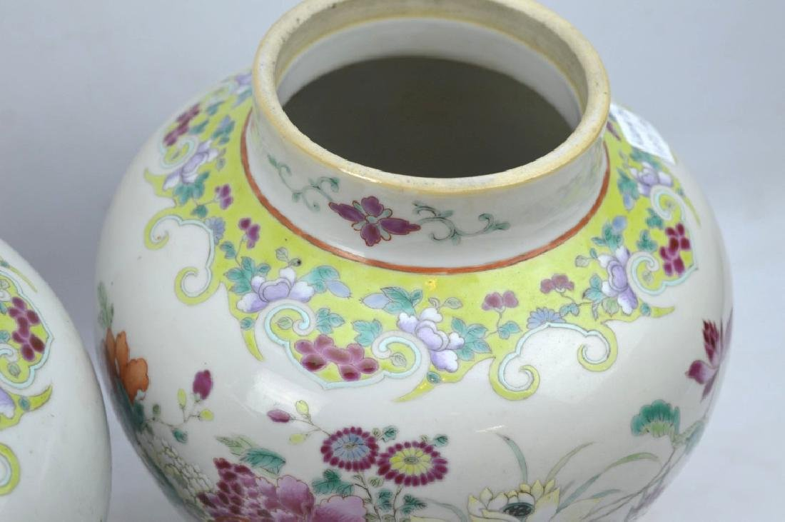 Pr Late Qing Chinese Famille Rose Porcelain Urns - 7