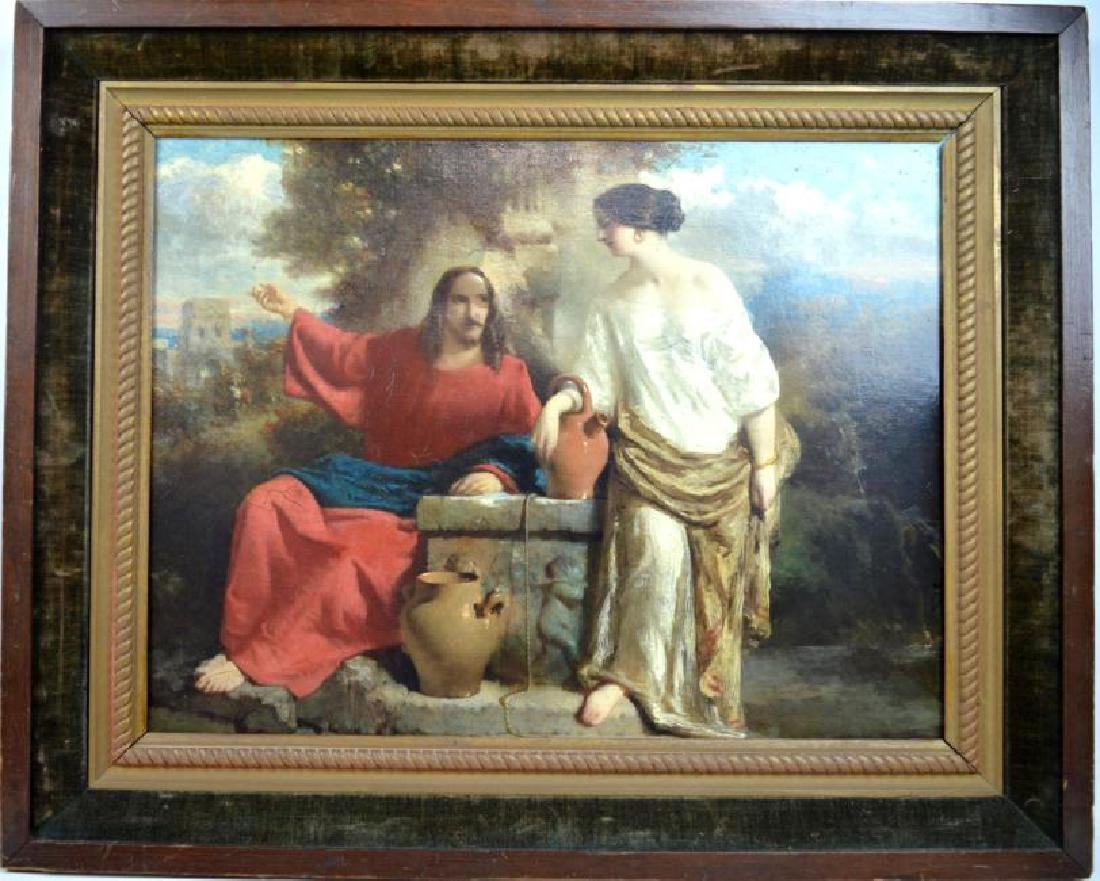 19C French Academic Oil Sketch Canvas