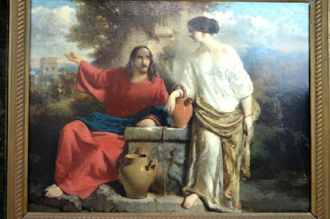 19C French Academic Oil Sketch Canvas - 2