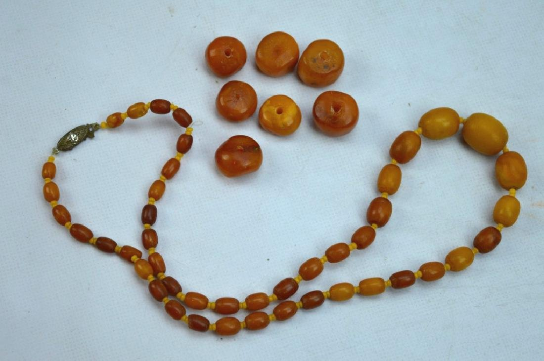 27 Grams; Butterscotch Amber Beads and Necklace