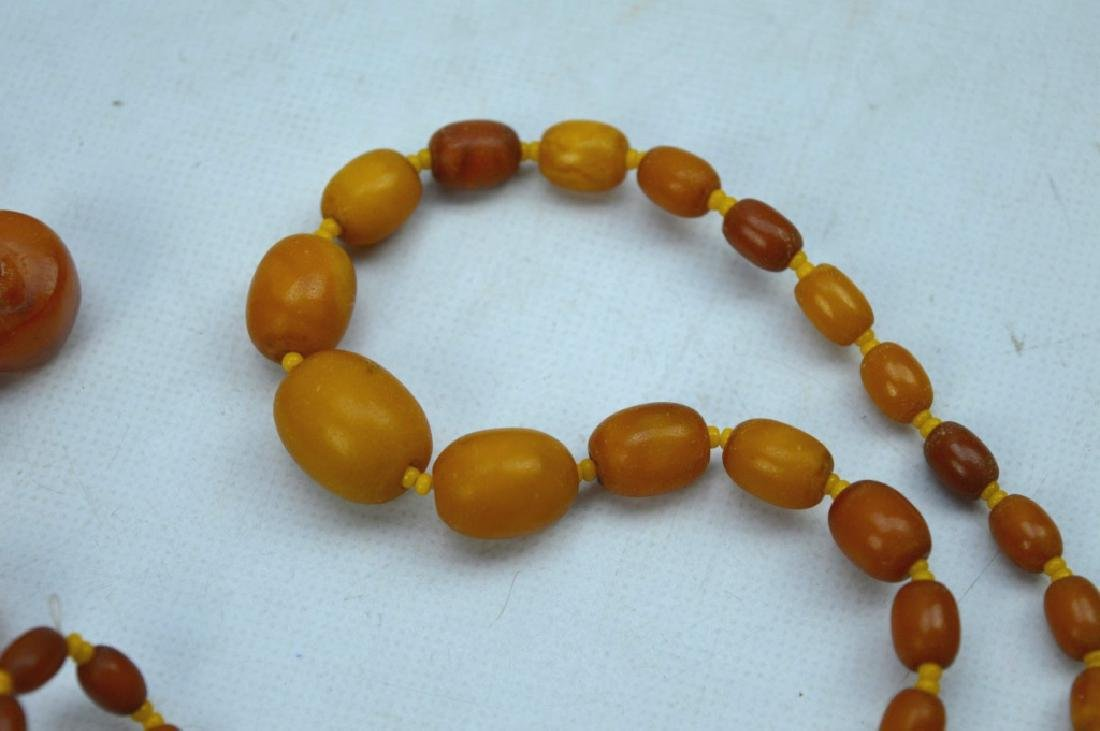 27 Grams; Butterscotch Amber Beads and Necklace - 2