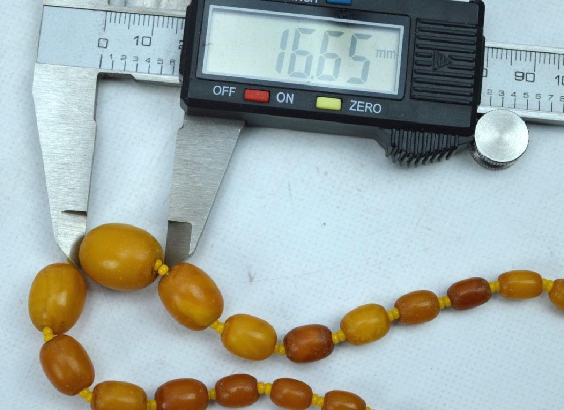 27 Grams; Butterscotch Amber Beads and Necklace - 6