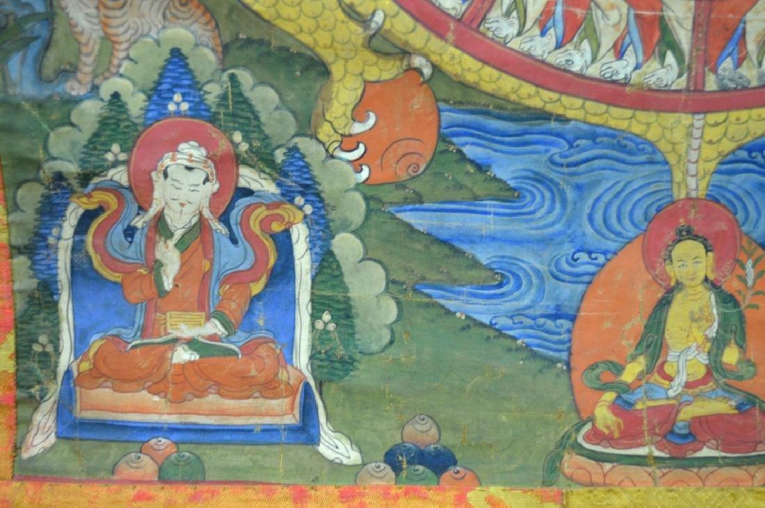 18th/19th C Tibetan Circular Symbolic Calendar - 4