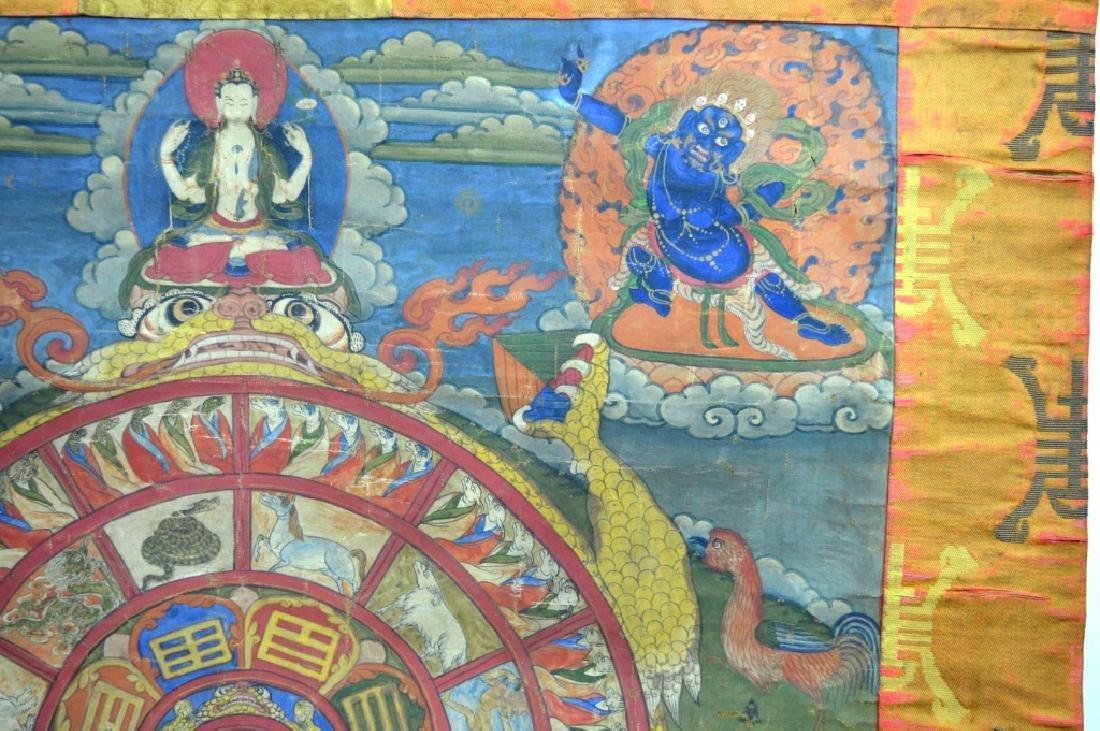 18th/19th C Tibetan Circular Symbolic Calendar - 6