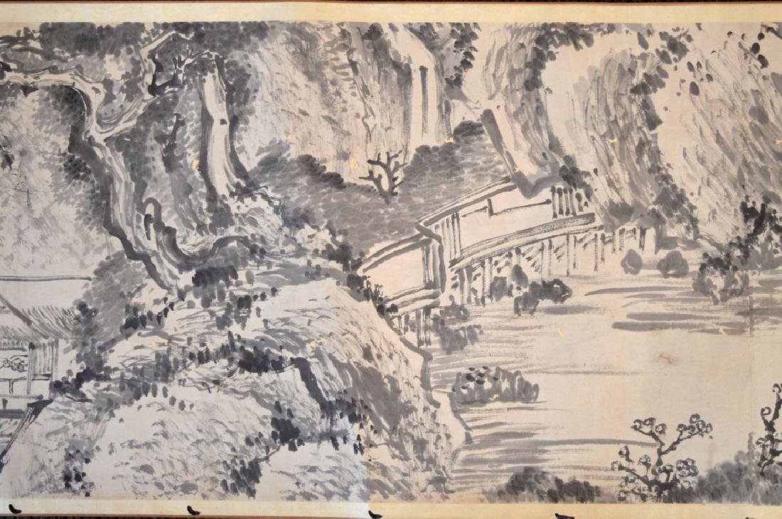 Chinese Antique Ink Handscroll - 4