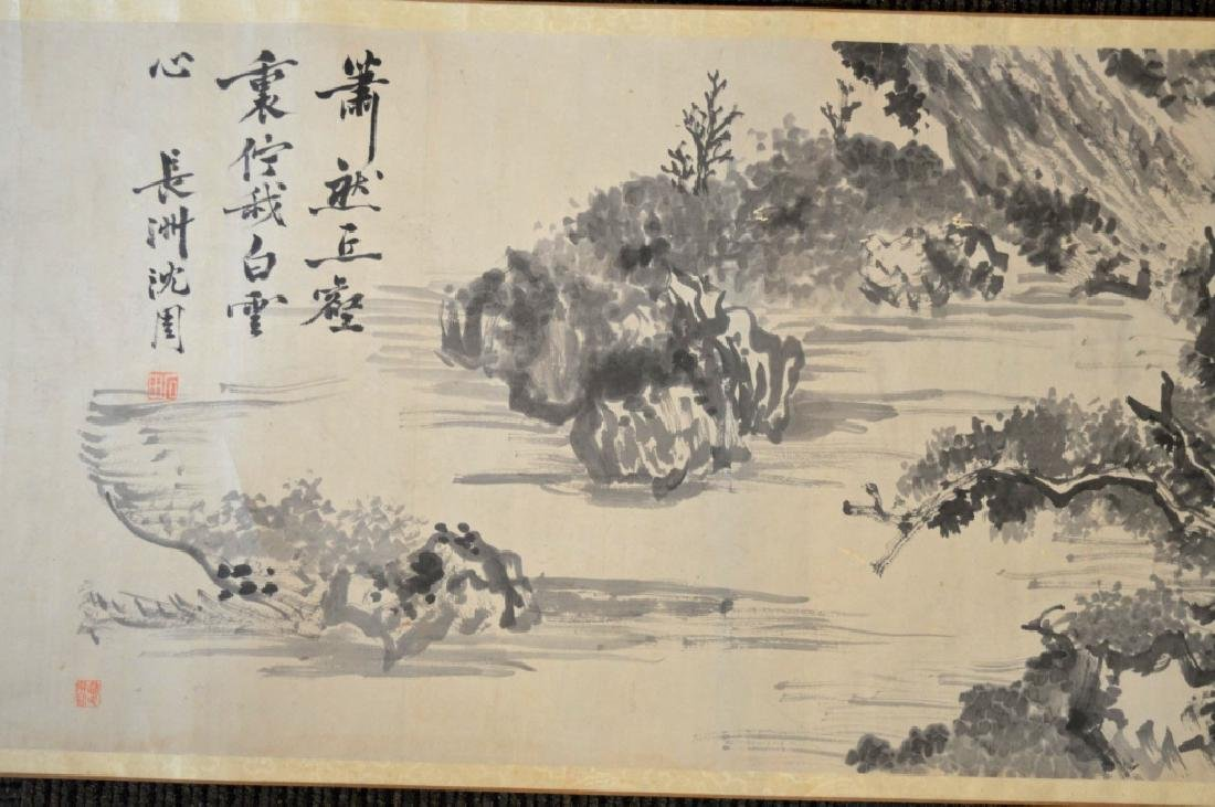 Chinese Antique Ink Handscroll - 7
