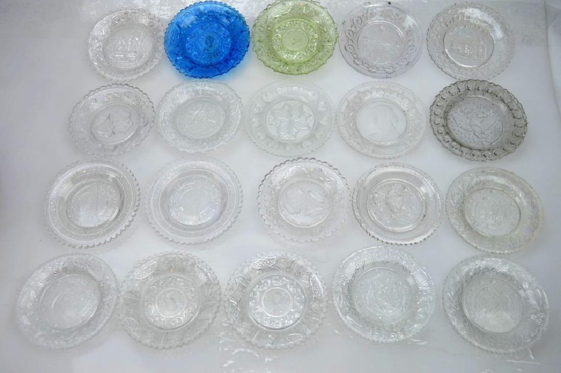 20 - Rare 19th C American Flint-Glass Cup Plates