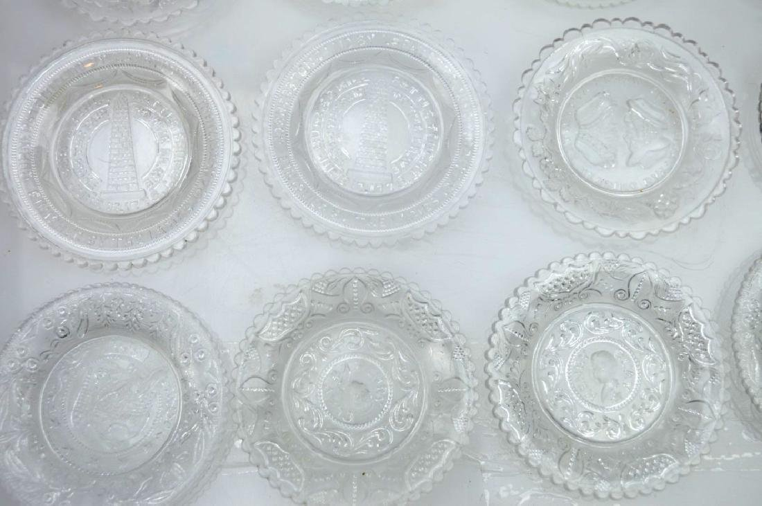 20 - Rare 19th C American Flint-Glass Cup Plates - 3