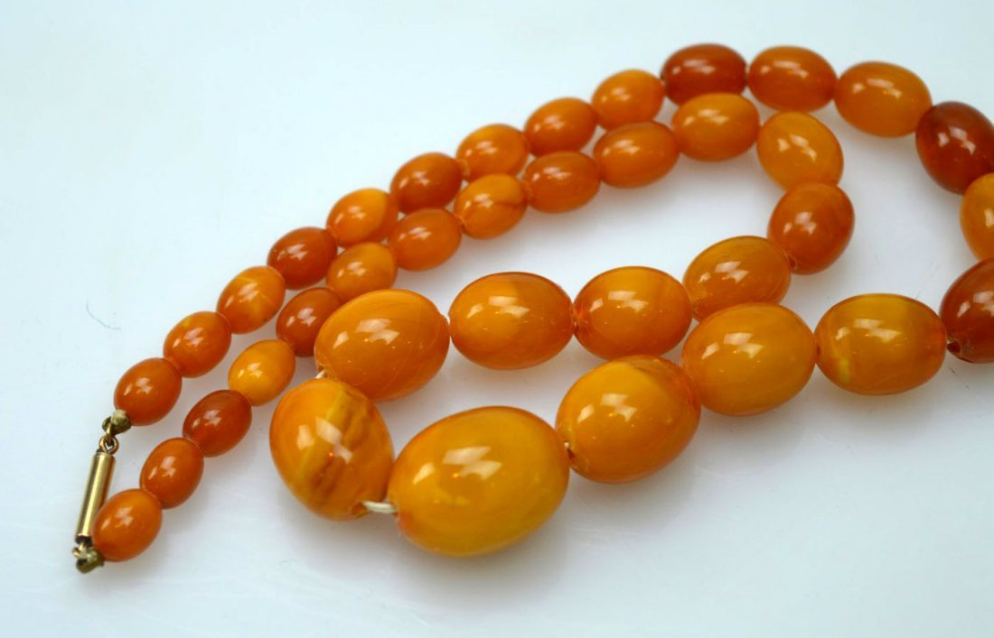 Amber Beads Necklace; Total Weight 36G - 3