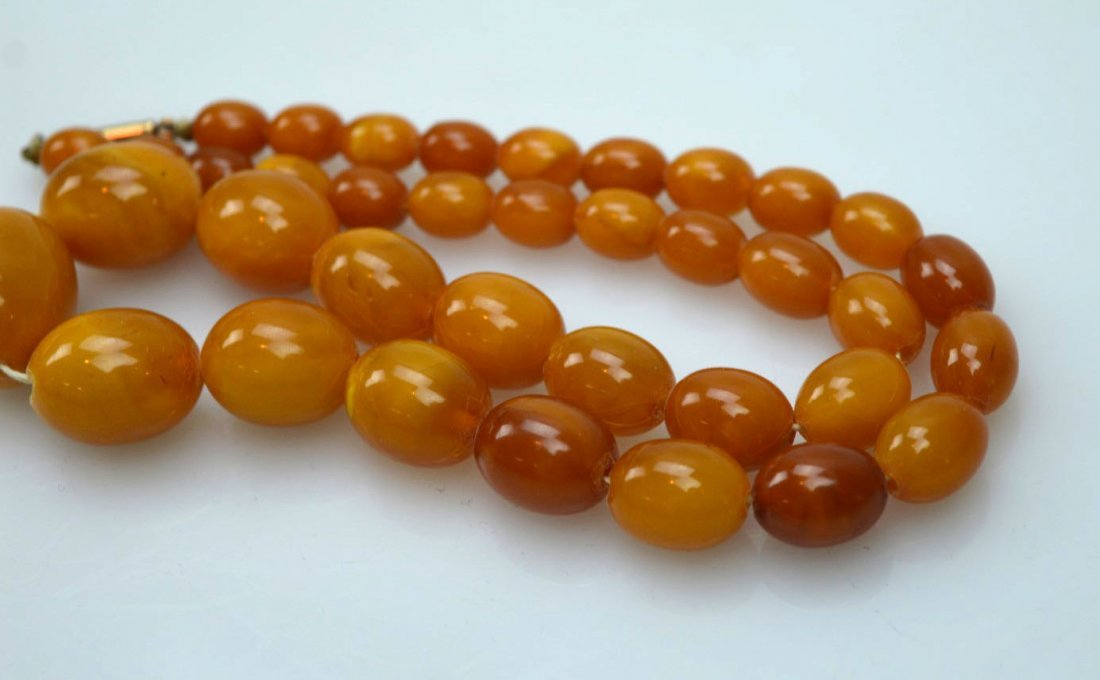 Amber Beads Necklace; Total Weight 36G - 4