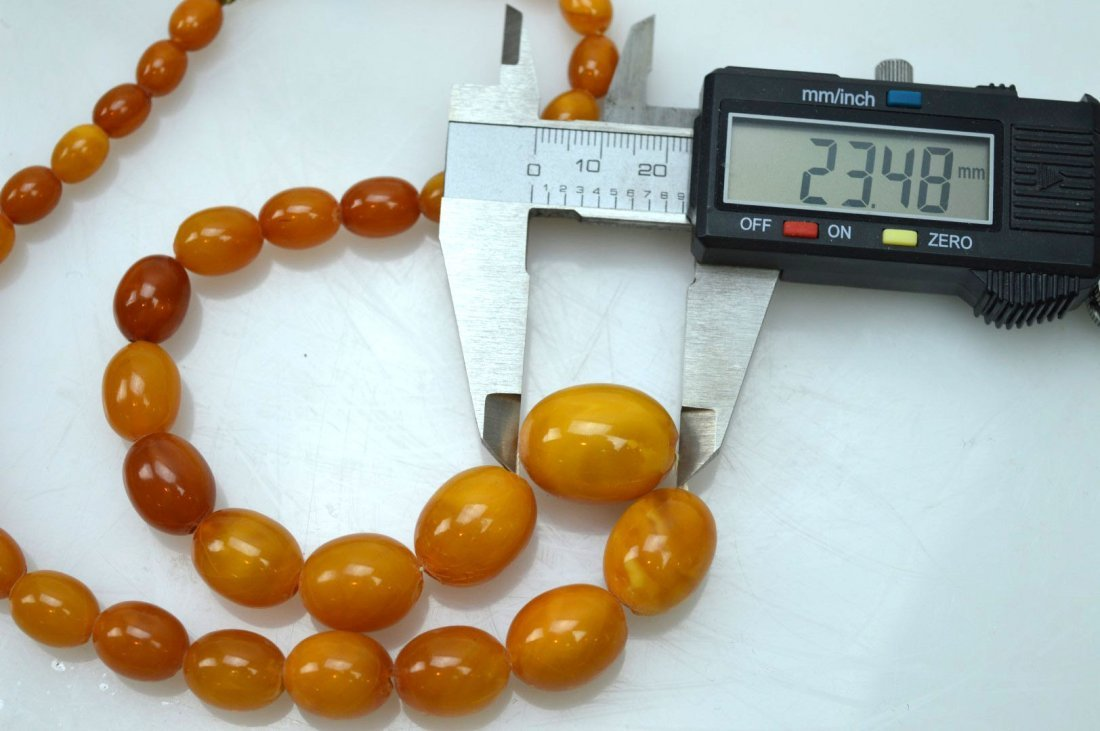Amber Beads Necklace; Total Weight 36G - 5