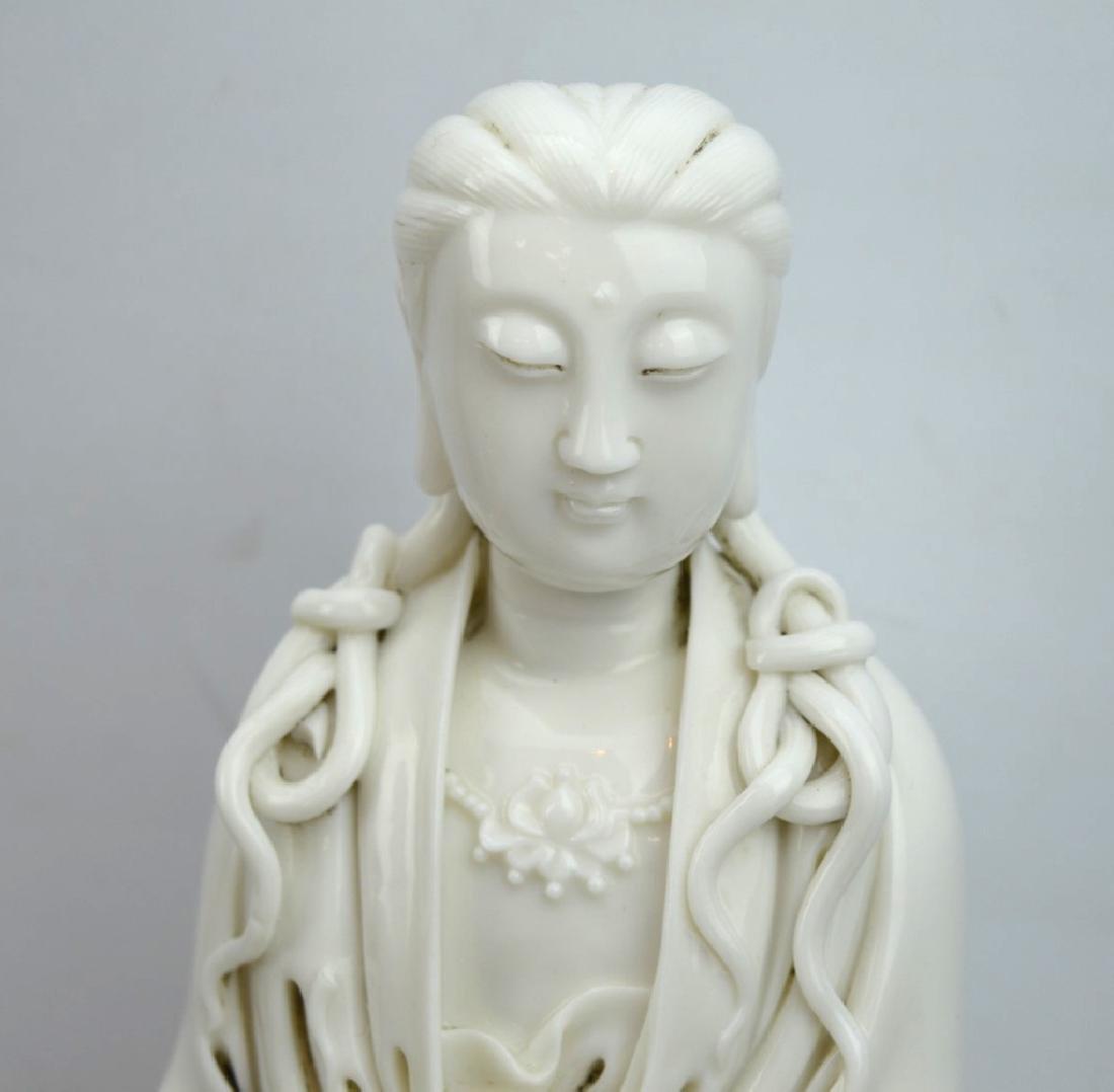 Fine Chinese Blanc de Chine Porcelain Guanyin - 2