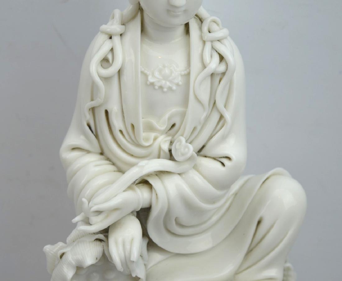 Fine Chinese Blanc de Chine Porcelain Guanyin - 3