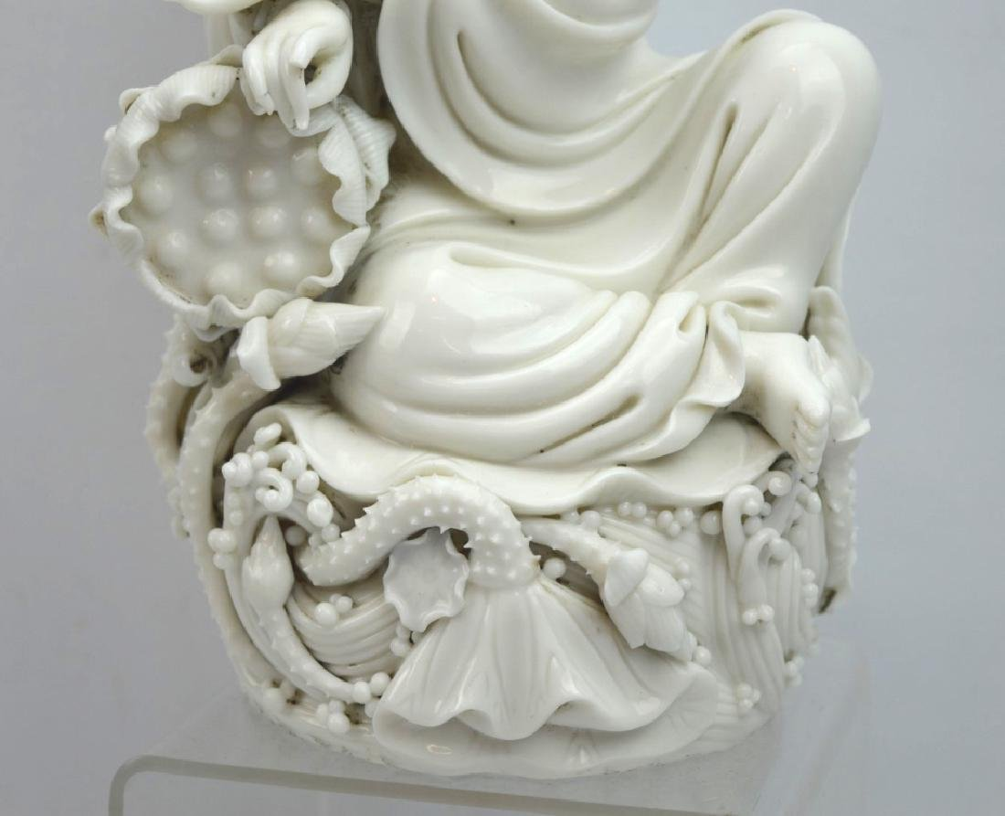 Fine Chinese Blanc de Chine Porcelain Guanyin - 4