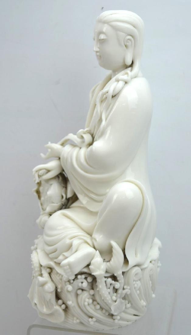 Fine Chinese Blanc de Chine Porcelain Guanyin - 6