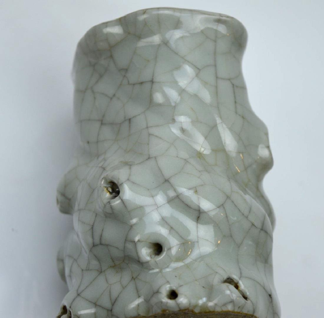 Chinese Crackle Glazed Celadon Tree-Shape Brushpot - 3