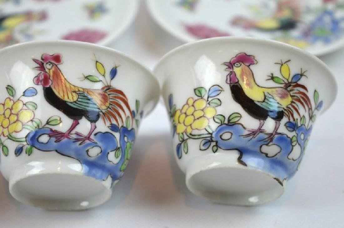 3 - Chinese Porcelain Teacups and Saucers - 2