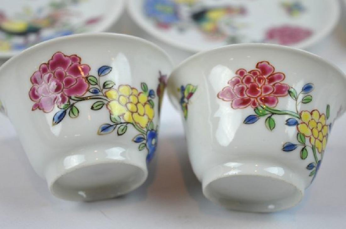 3 - Chinese Porcelain Teacups and Saucers - 4