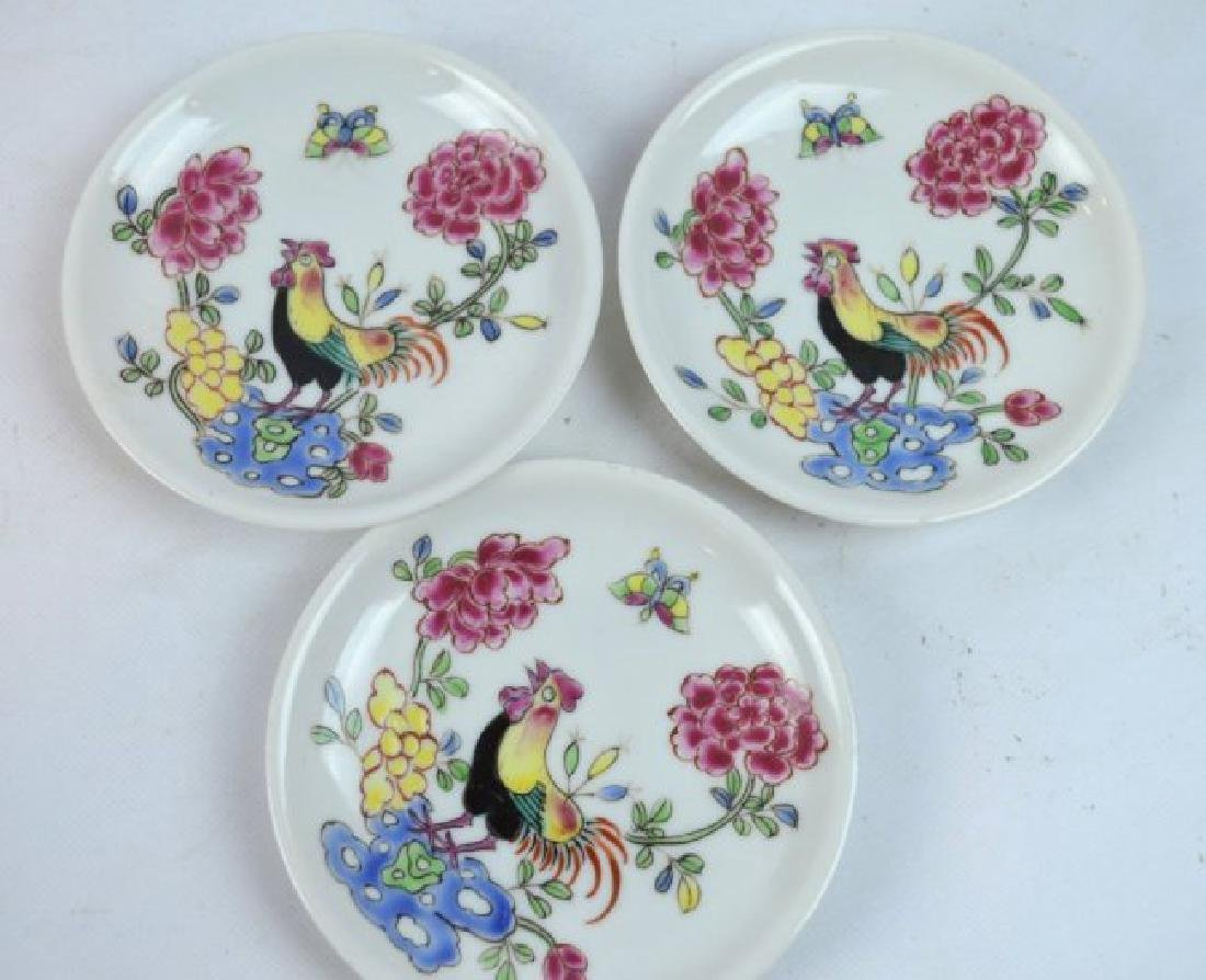3 - Chinese Porcelain Teacups and Saucers - 5