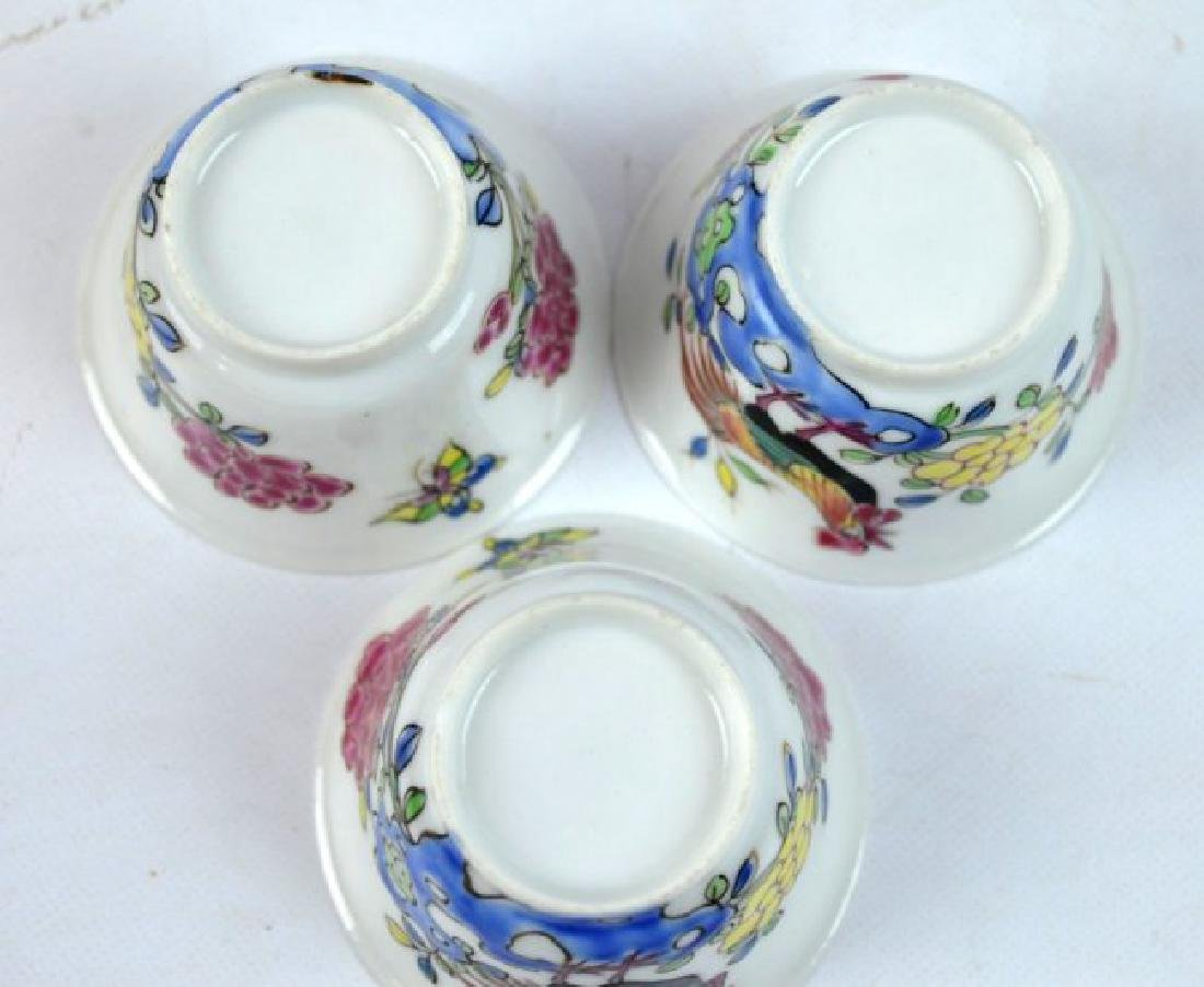 3 - Chinese Porcelain Teacups and Saucers - 9