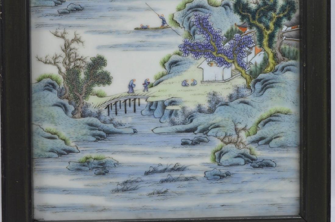 Good Chinese Enameled Porcelain Landscape Plaque - 3