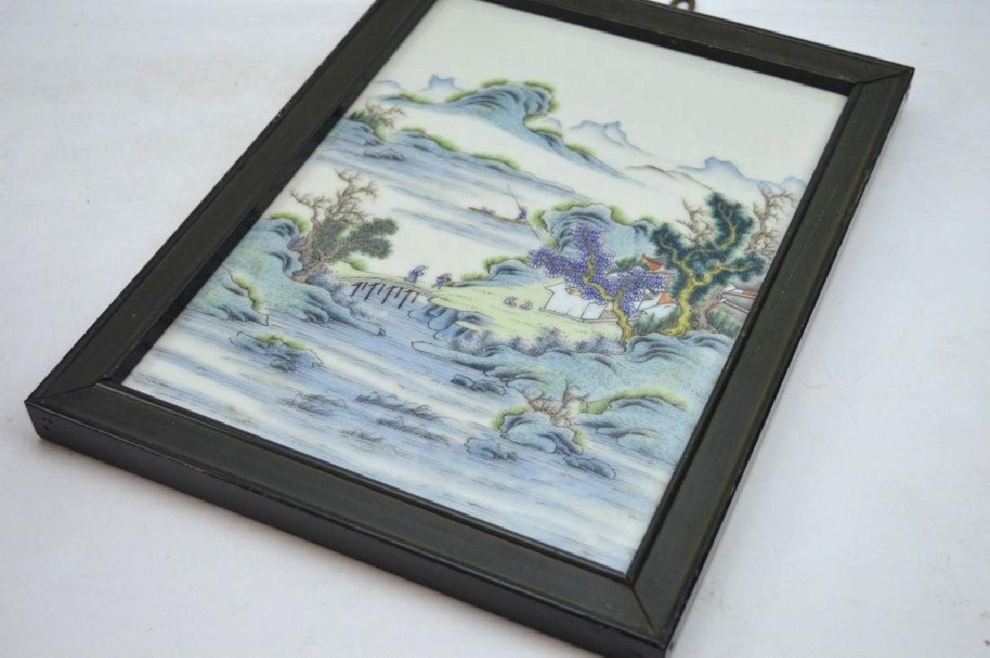 Good Chinese Enameled Porcelain Landscape Plaque - 4