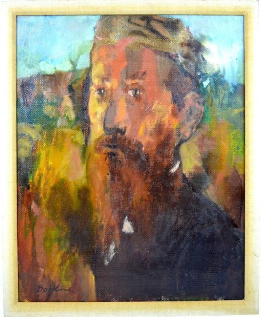 "Alexander Dobkin; ""The Teacher"" 1967 Oil"