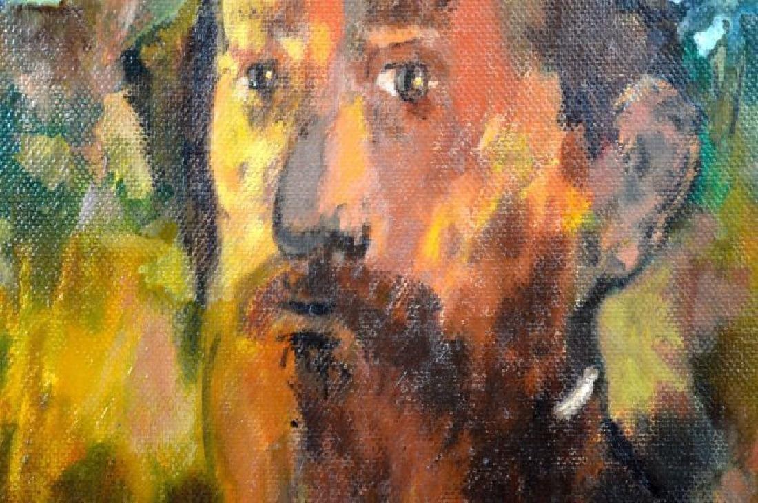 "Alexander Dobkin; ""The Teacher"" 1967 Oil - 3"
