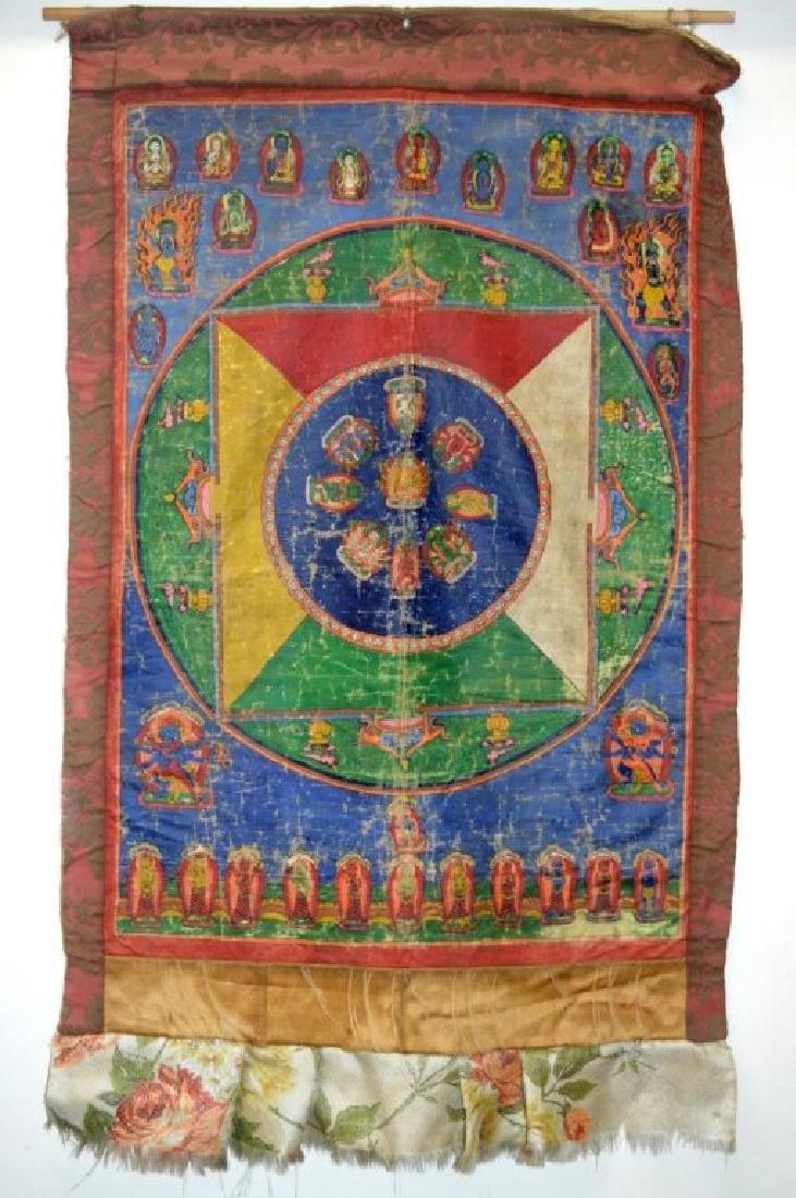 Tibet; Early-20th C Mandala Thanka