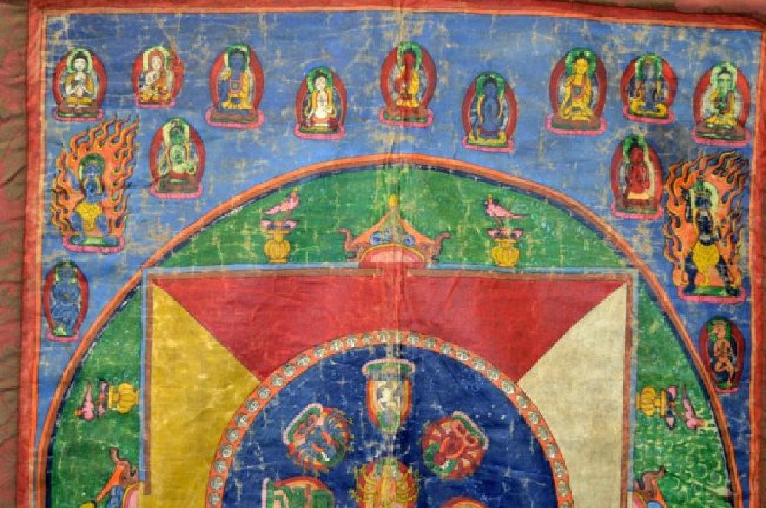 Tibet; Early-20th C Mandala Thanka - 2