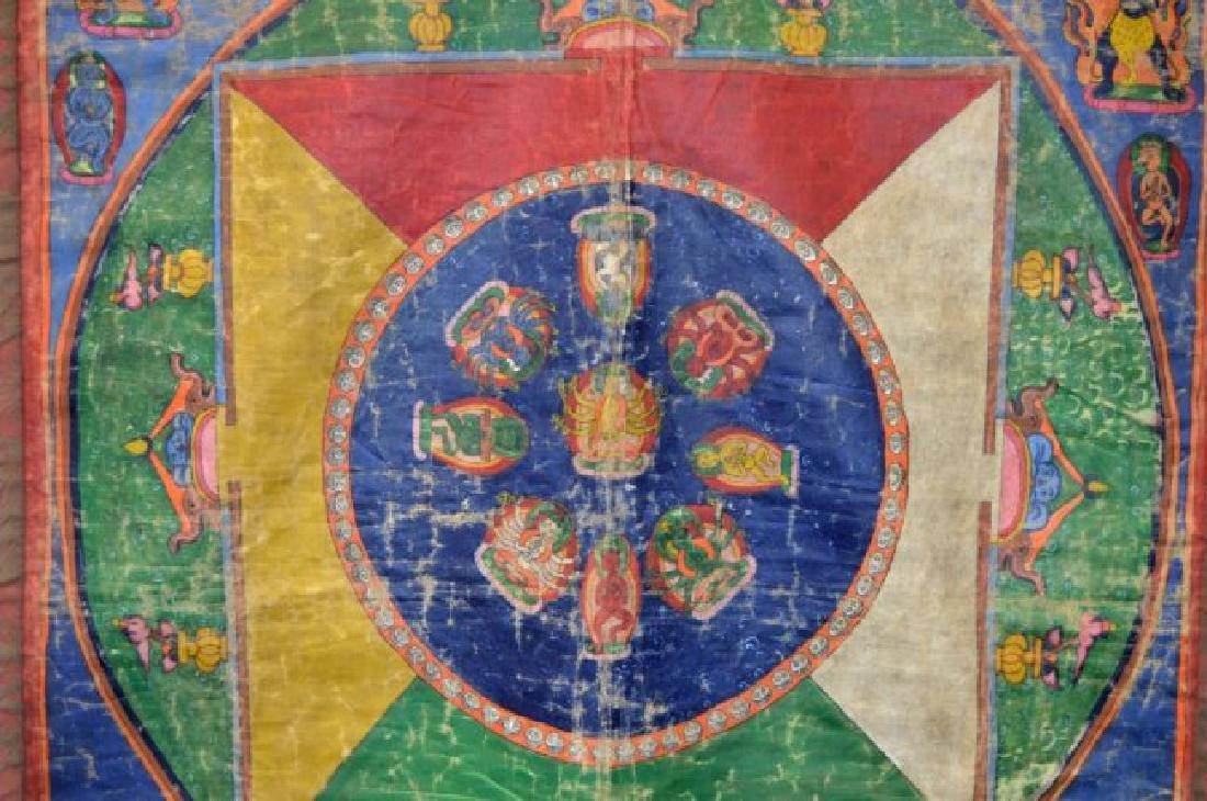 Tibet; Early-20th C Mandala Thanka - 3