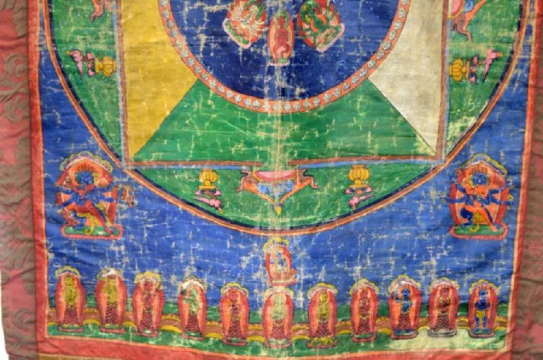 Tibet; Early-20th C Mandala Thanka - 4