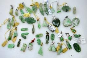 40+ Pieces Of Chinese Carved Jadeite