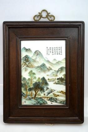 Chinese Republic Artist Painted Porcelain Plaque