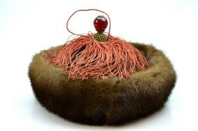 Qing Dynasty Chinese Sable Trimmed Winter Hat