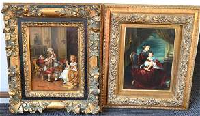 Two 20th Century Oils on Panels Framed