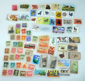 Group Of 80 Good Chinese Postage Stamps