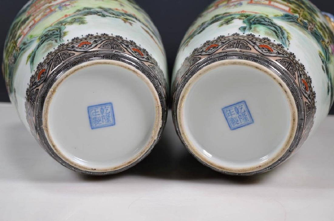 Chinese Mirror Pr Fencai Enamel Porcelain Vases - 10
