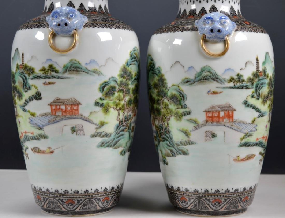 Chinese Mirror Pr Fencai Enamel Porcelain Vases - 3
