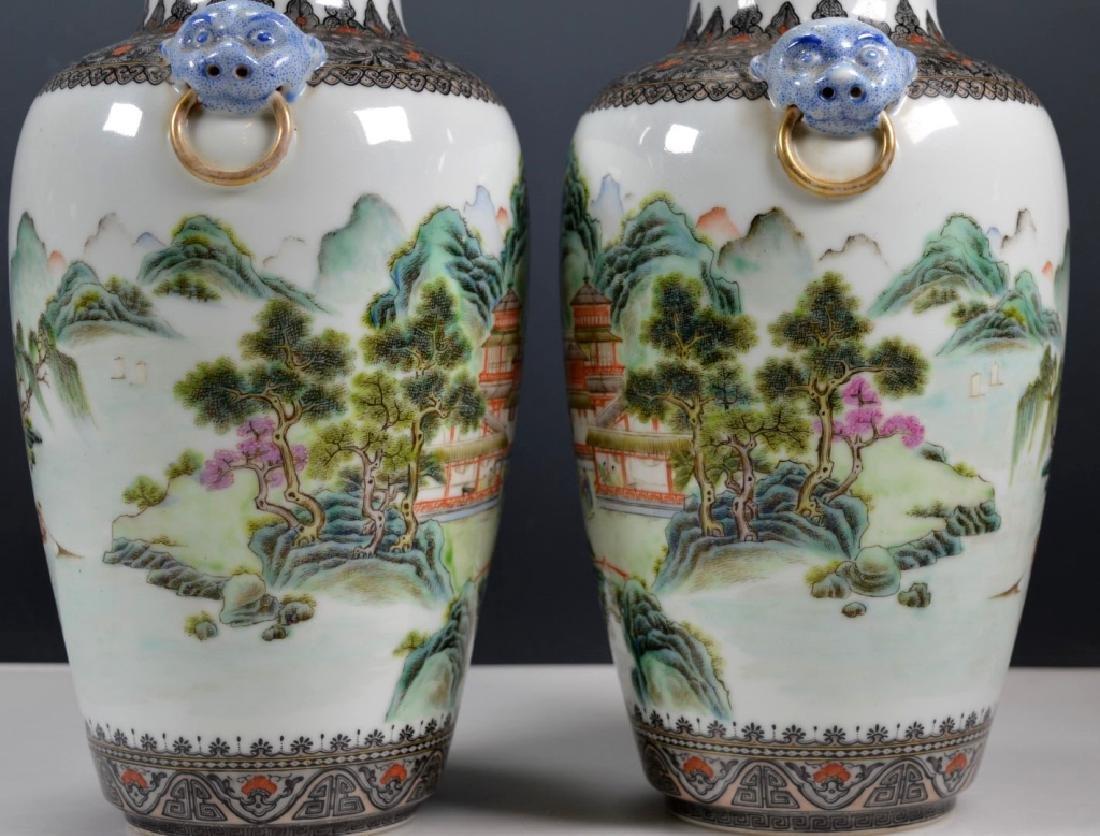 Chinese Mirror Pr Fencai Enamel Porcelain Vases - 4