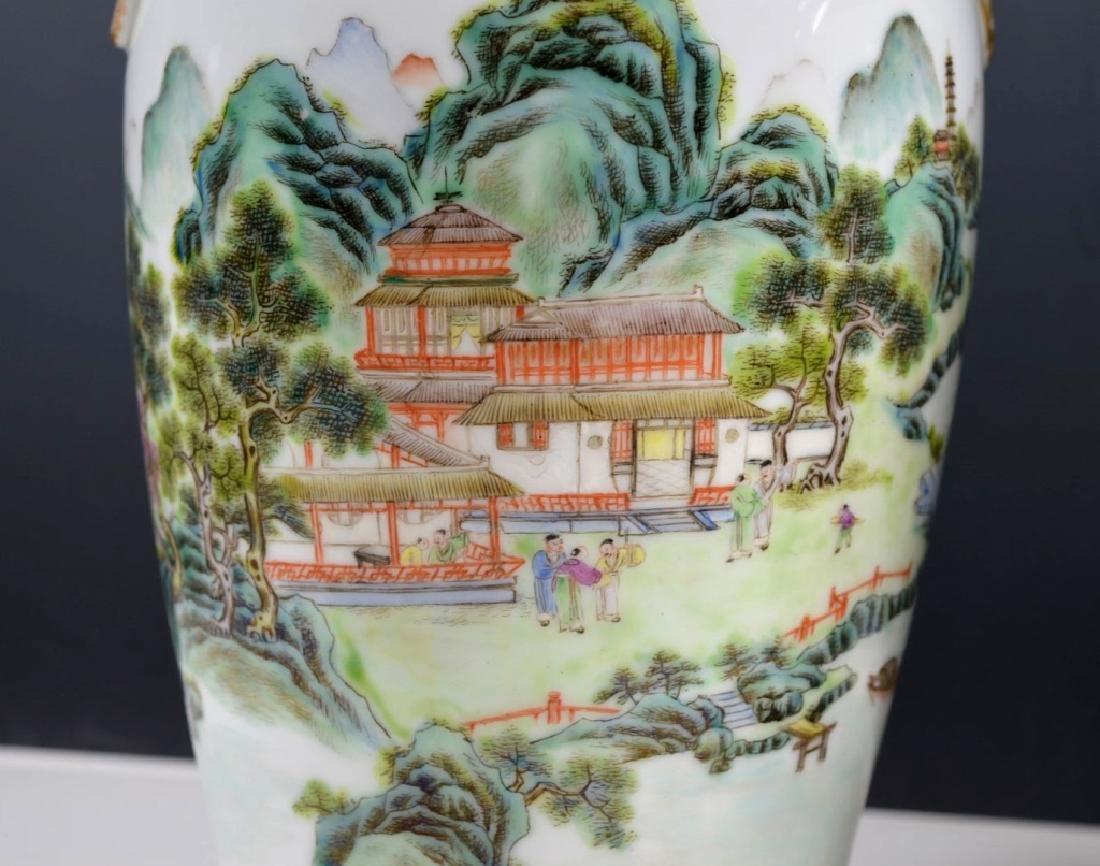 Chinese Mirror Pr Fencai Enamel Porcelain Vases - 5