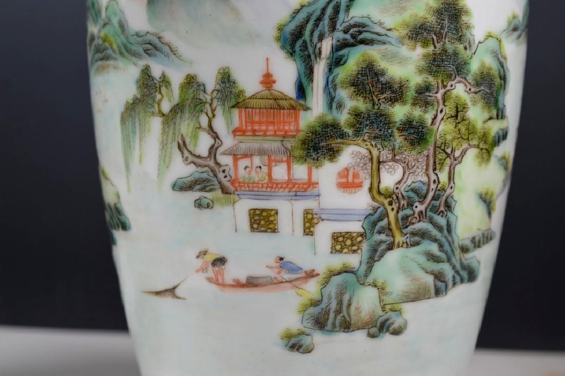 Chinese Mirror Pr Fencai Enamel Porcelain Vases - 6