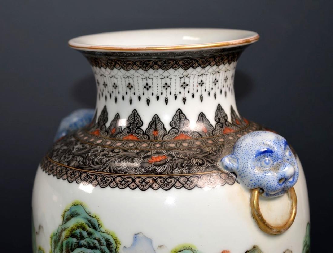 Chinese Mirror Pr Fencai Enamel Porcelain Vases - 8