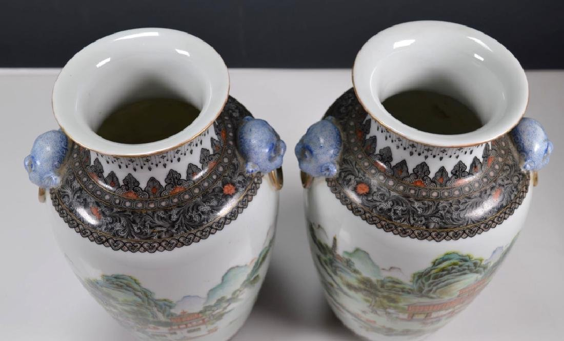 Chinese Mirror Pr Fencai Enamel Porcelain Vases - 9