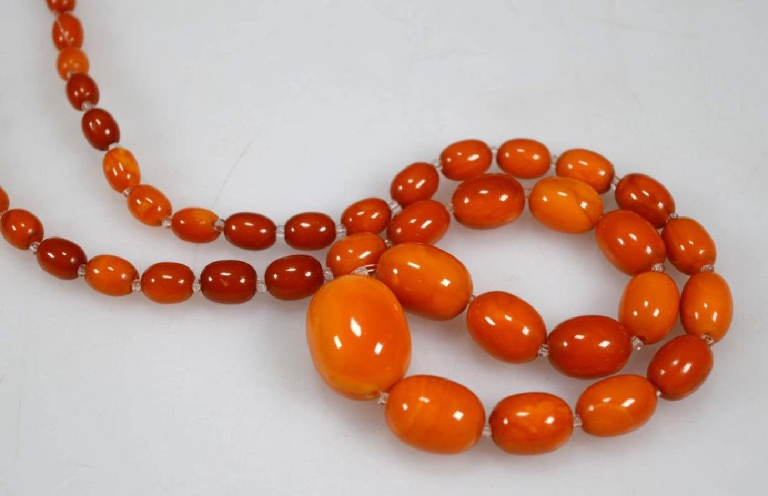 2 - Butterscotch Amber Bead Necklaces; 52 Grams - 4