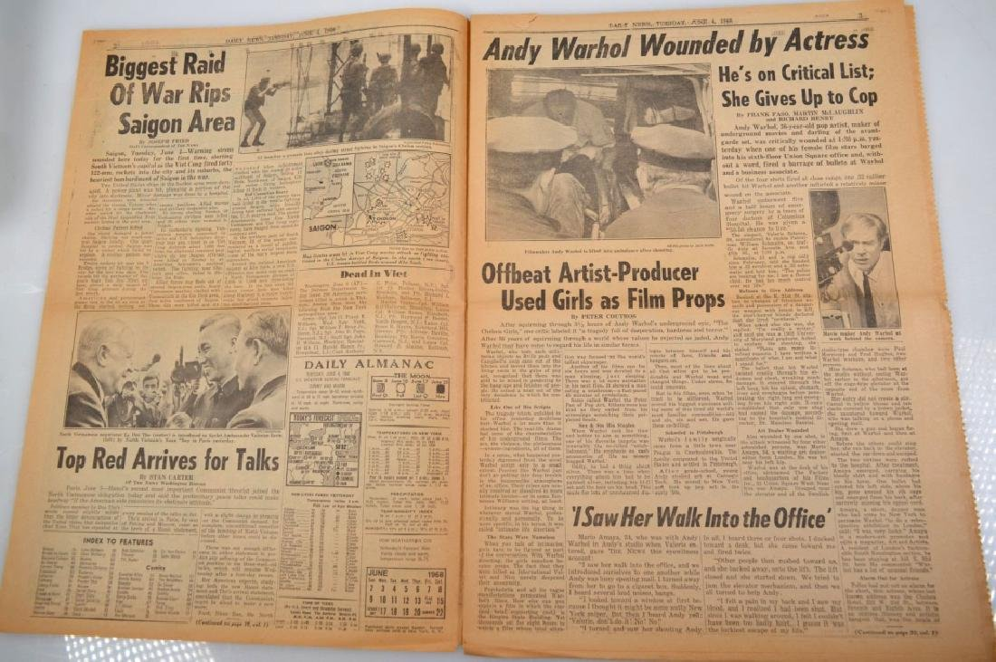 "Daily News 1968; ""Actress Shoots Andy Warhol"" - 3"