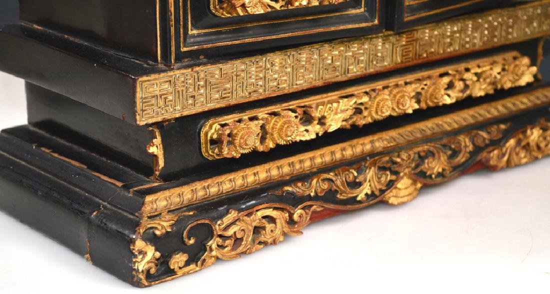 Chinese Canton Gold Lacquer Small Cabinet - 9