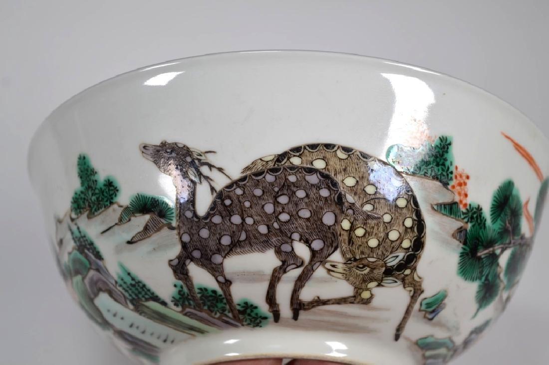 Fine Qing Chinese Famille Verte Porcelain Bowl